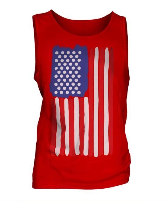 Stars And Stripes Painted Flag Mens Vest
