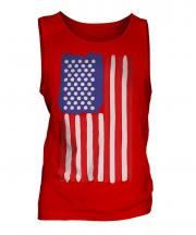 Stars And Stripes Painted Flag Mens Vest