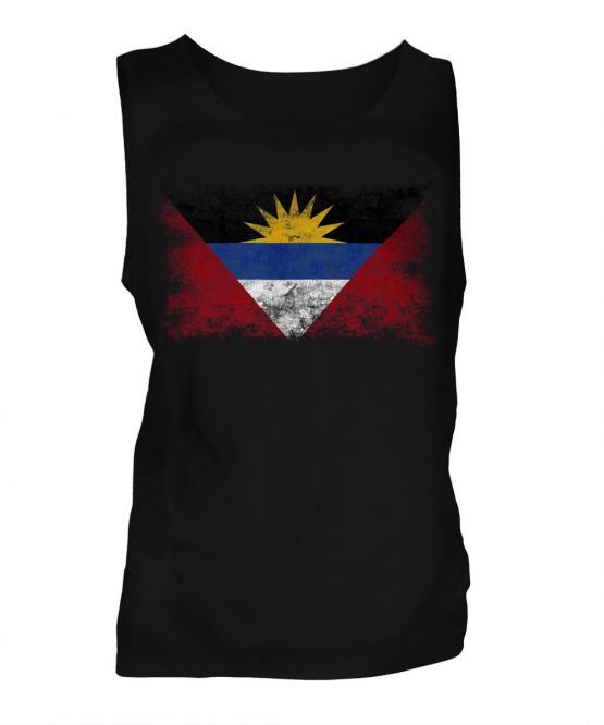 Antigua And Barbuda Distressed Flag Mens Vest
