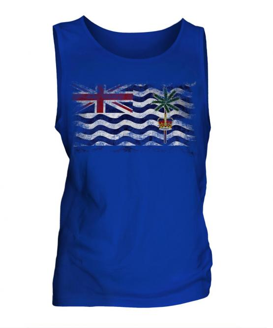 British Indian Ocean Territory Distressed Flag Mens Vest