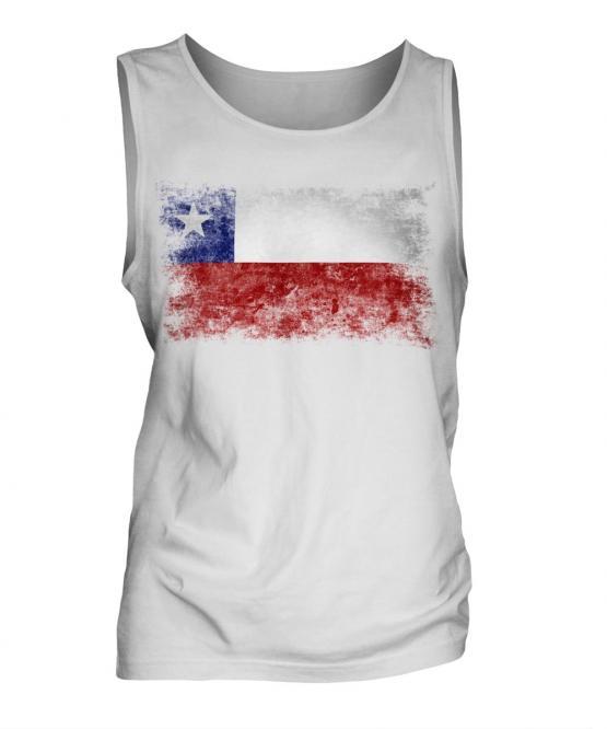 Chile Distressed Flag Mens Vest