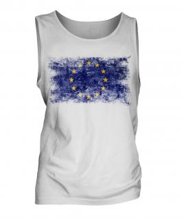 European Union Distressed Flag Mens Vest