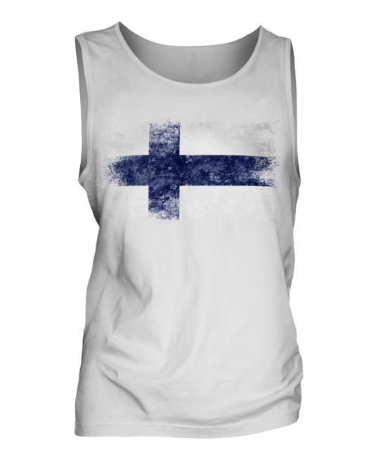 Finland Distressed Flag Mens Vest