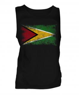 Guyana Distressed Flag Mens Vest