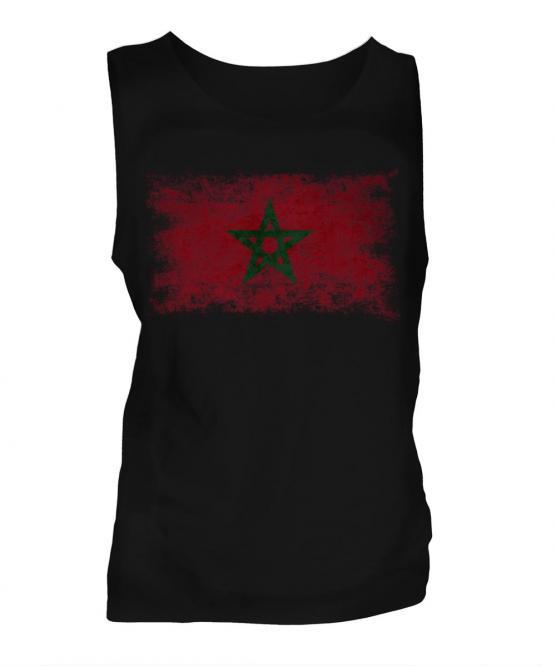 Morocco Distressed Flag Mens Vest