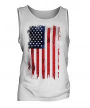 Stars And Stripes Grunge Flag Mens Vest