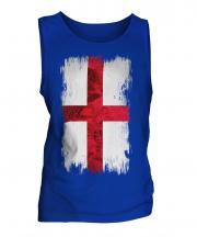England St George Grunge Flag Mens Vest