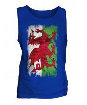 Wales Grunge Flag Mens Vest