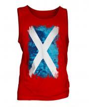 Scotland Grunge Flag Mens Vest