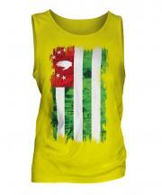Abkhazia Grunge Flag Mens Vest
