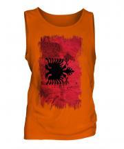 Albania Grunge Flag Mens Vest