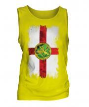 Alderney Grunge Flag Mens Vest