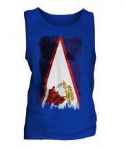 American Samoa Grunge Flag Mens Vest