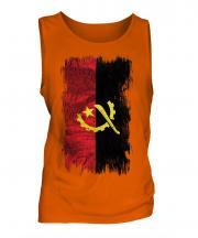 Angola Grunge Flag Mens Vest