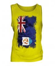 Anguilla Grunge Flag Mens Vest