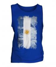 Argentina Grunge Flag Mens Vest