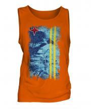Aruba Grunge Flag Mens Vest