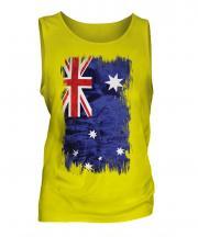 Australia Grunge Flag Mens Vest