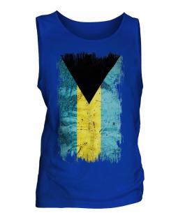 Bahamas Grunge Flag Mens Vest