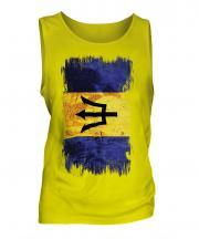 Barbados Grunge Flag Mens Vest
