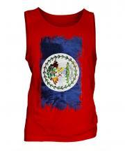 Belize Grunge Flag Mens Vest