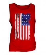 Bikini Atoll Grunge Flag Mens Vest