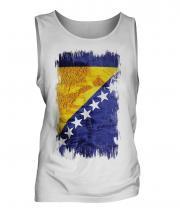 Bosnia And Herzegovina Grunge Flag Mens Vest