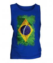 Brazil Grunge Flag Mens Vest
