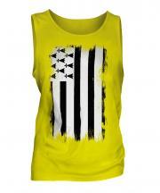 Brittany Grunge Flag Mens Vest