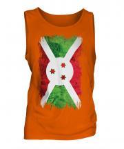 Burundi Grunge Flag Mens Vest