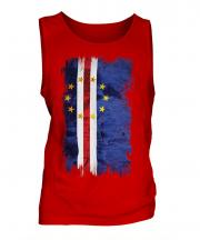 Cape Verde Grunge Flag Mens Vest