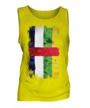 Central African Republic Grunge Flag Mens Vest