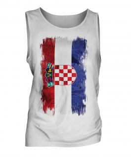 Croatia Grunge Flag Mens Vest