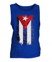 Cuba Grunge Flag Mens Vest
