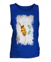 Cyprus Grunge Flag Mens Vest