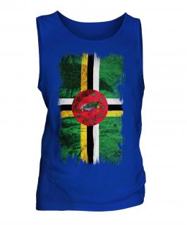 Dominica Grunge Flag Mens Vest
