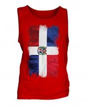 Dominican Republic Grunge Flag Mens Vest