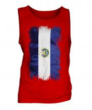 El Salvador Grunge Flag Mens Vest