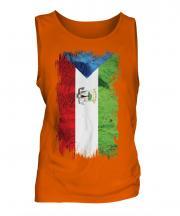 Equatorial Guinea Grunge Flag Mens Vest