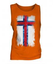 Faroe Islands Grunge Flag Mens Vest