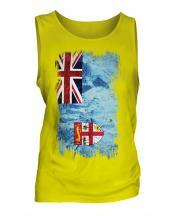Fiji Grunge Flag Mens Vest