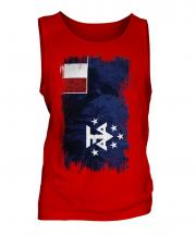 French Southern And Antarctic Lands Grunge Flag Mens Vest