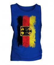 Germany State Grunge Flag Mens Vest