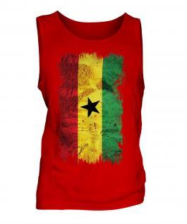 Ghana Grunge Flag Mens Vest