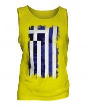 Greece Grunge Flag Mens Vest