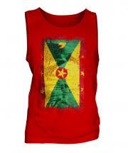 Grenada Grunge Flag Mens Vest