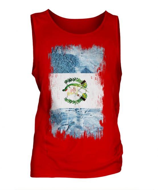 Guatemala Grunge Flag Mens Vest