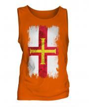 Guernsey Grunge Flag Mens Vest