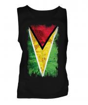 Guyana Grunge Flag Mens Vest