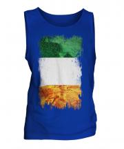 Ireland Grunge Flag Mens Vest